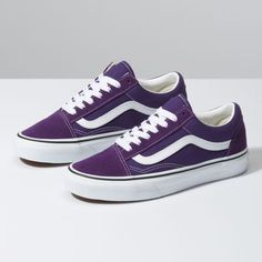 Shop bestselling Classics Shoes at Vans including Women's Classics, Slip-On, Canvas Authentics, Low Top, High Top Shoes & More. Shop at Vans today! Vans Shoes Women, Womens Shoes Wedges, Girls Shoes, Ladies Shoes, Ladies Sandals, Purple Vans, Purple Shoes, Cute Shoes, Me Too Shoes