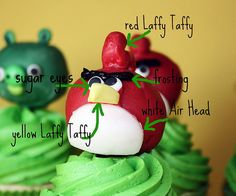 Awesome NON-gumpaste/fondant AngryBird character ideas.