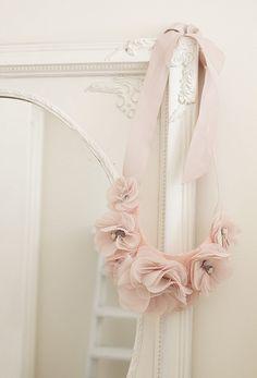 ♥ Rose Wedding Dress Sash