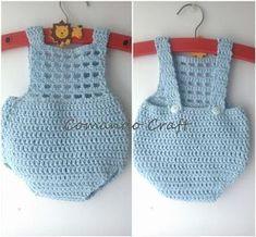 Patrón gratis y paso a paso de pelele bebe recien nacido – Crochet – Comando Craft