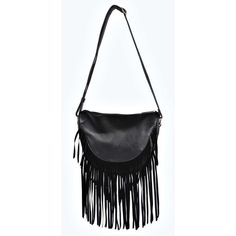 Boohoo Ava Fringe Saddle Cross Body Bag ($24) ❤ liked on Polyvore featuring bags, handbags, shoulder bags, purses, shoulder strap handbags, crossbody handbags, fringe crossbody purse, shoulder handbags and crossbody shoulder bags