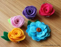 bright and springy hair clips for girls or women