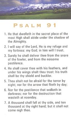 #Gods beautiful promise to protect us and overcome any evil that tries to harm his people.