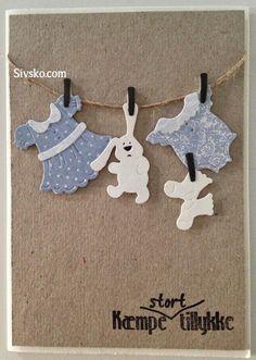 Børnetøj kort...lavet med Cuttage Cutz baby girls clothes/baby boy clothes se på Sivsko.com