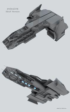 It's been slow going but it is going. Stargate Ships, Stargate Atlantis, Spaceship Art, Spaceship Design, Gi Joe, Stargate Universe, Starship Concept, Sci Fi Spaceships, Sci Fi Ships