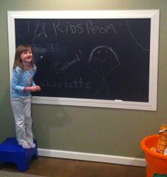 basement ideas chalkboard paint
