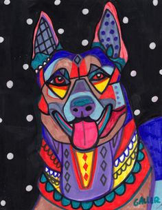 """Malinois belge"" par Heather Galler"
