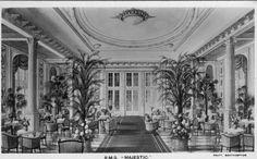 White Star Line RMS Majestic interior.