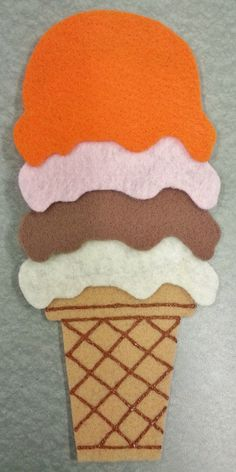 Ice Cream Cone reused in 3 different stories/ rhymes from Library Village