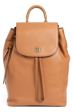 Tory+Burch+'Brody'+Leather+Drawstring+Backpack+available+at+#Nordstrom