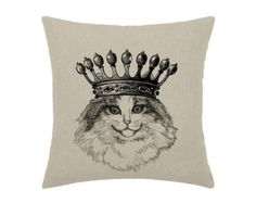 Your place to buy and sell all things handmade Royal Time, Hipster Cat, White Image, Decorative Pillow Covers, Cats And Kittens, Original Artwork, Bicycle, Art Prints, Black And White