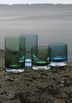 "Drinking glass ""Winterglasses"". Blown by glassblower Marja Hepo-aho. Made in Finland, EU #drinkingglass #styleworkfinland"