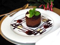 This delicious decadent chocolate mousse cake is a must try. This dessert is beautiful when plated, and will impress your guests. Chocolate Mousse Cake, Decadent Chocolate, Chocolate Desserts, Chocolate Chocolate, Easy Cake Recipes, Gourmet Recipes, Dessert Recipes, Fancy Desserts, Just Desserts