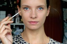 Model and beauty blogger Ruth Crilly with her best undereye concealers for dark circles