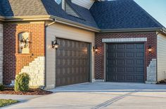 Three Car Garage with side load and front load entries. Dream Garage, Car Garage, Garage Doors, Garage Addition, Old World Style, Garage Ideas, Amelia, House Plans, Outdoor Decor