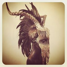 "boredgazm: "" Holy Fuckin' FUCK, do I want this!!!! #Headdress #Antlers #Warrior…"