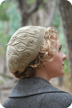 The Rustling Leaves Beret-- Do not like this color, but love the pattern.