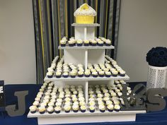 300 mini cupcakes and gluten free wedding cake.