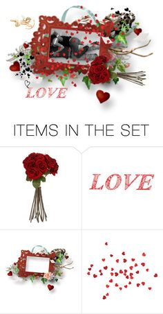 """Hearts n Roses"" by xtina75 ❤ liked on Polyvore featuring art"