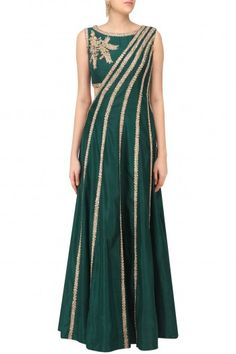 Reeti Arneja Green Draped Maxi Dress #happyshopping #shopnow #ppus
