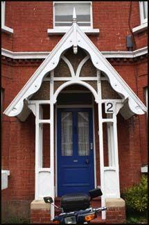 Canopies, Door Entrances & Porches - Georgian stone pediments, Victorian & edwardian porches Front Door Canopy, Porch Canopy, Front Door Porch, Porch Doors, House Doors, Entrance Doors, House Front, Front Porches, Front Doors