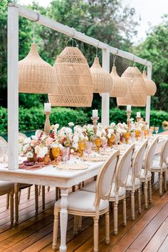 This jungle wedding in Riviera Maya is brimming with the prettiest pastel garden roses and eye-catching geometric shapes. With a touch of boho & tropical and rattan lamps, we are l-o-v-i-n-g this destination wedding in Mexico. Riviera Maya, Wedding Lanterns, Wedding Decorations, Boho Backdrop, Outdoor Tent Wedding, Rattan Lamp, Safari Wedding, Best Bride, Mexican Designs