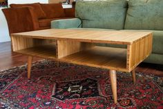 Picture of Mid-Century Modern Style Coffee Table made with Plyboo (Bamboo Plywood)