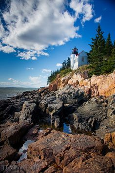 The Bass Harbor Head Light House marks the entrance to Bass Harbor on the southwest portion of Mount Desert Island, Maine. The lighthouse is located in Acadia Oh The Places You'll Go, Great Places, Beautiful Places, Places To Visit, Peaceful Places, National Parks Usa, Acadia National Park, Travel Usa, Travel Maine