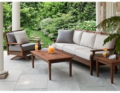 Jensen Leisure Opal Collection 5 Piece Ipe Deep Seating Group With Regard To Patio Furniture