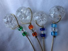 4 Stem Wine Charms Multi Color by ThereIsNoOneLikeYou on Etsy, $6.00