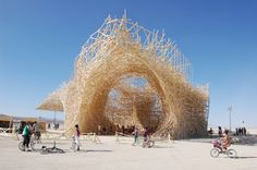 Burning Man, Nevada. Every year this festival creates massive amazing sculpture. If only there weren't so many drugged out people. Uchronia