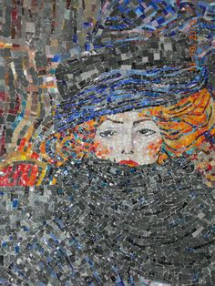 dernières créations : dialogue mosaïque/bois perles en verre, filées au chalumeau voici... - mosaiqueprenoux.overblog.com