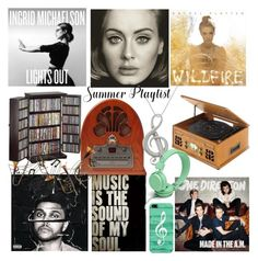 """""""Summer Playlist"""" by diane-fritz-sager ❤ liked on Polyvore featuring art and Summerplaylist"""