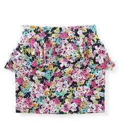 aeropostale - Printed Peplum Knit Skirt