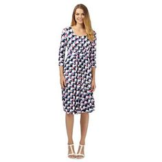 Maine New England Navy spotted scoop neck jersey dress- at Debenhams.com