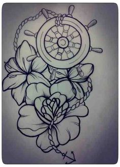 I'd get this on my thigh, bigger, with more color and the anchor would be bigger. Love the design though