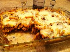Baked Ziti, recipe from Publix Aprons, except I used ground venison instead of beef