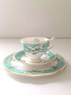 Vintage English Queen Anne Fine Bone China Tea by MariasFarmhouse