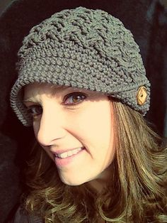 Ravelry: Diagonal Weave Beanie or Newsboy pattern by Crochet by Jennifer