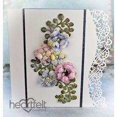 Heartfelt Creations - Cottage Multi Color Floral Spray Project