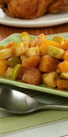 A butternut squash side dish recipe to celebrate the flavors of fall when combined with apple and spices.