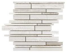 Haisa Light Marble Mosaic Tile Planks mesh mounted on a 12x12 fiberglass sheet for an easy installation. It is suitable for kitchen backsplash, bathroom, shower, and feature wall.