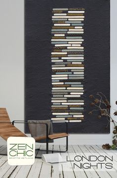 LONDON NIGHTS Zen Chic Brigitte Heitland Quilt Wallhanging Tabletopper Modern Jellyroll Friendly Sewing Applique Quilting Pattern by KinshipQuilters on Etsy Zen, Quilting Projects, Quilting Designs, Quilt Design, Quilt Inspiration, Neutral Quilt, London Night, Modern Quilt Patterns, Quilt Modernen