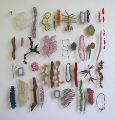 https://flic.kr/p/8Wkp4p | sampler |  fishskin, horsehair, parchment, paperyarn, fabric, fishscale, bark....