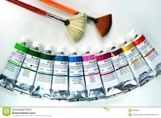 Acrylic Painting Tools Stock Photos - Image: 8035863