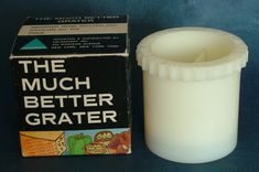 'The Much Better Grater' by Swissmart Inc. Madison Avenue, Grater, Glass Of Milk, 1970s
