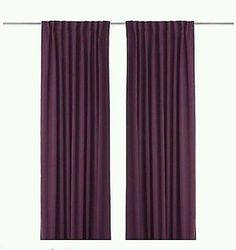 Ikea Werna Verdunkelungs Vorhänge Gardinen 2 Schals 145x300 lila