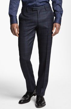Etro Plaid Wool Trousers