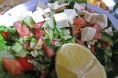 Arabic salad with feta
