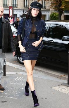 Bella Hadid Wears This Tricky Trend (Almost) Every Day via @WhoWhatWear